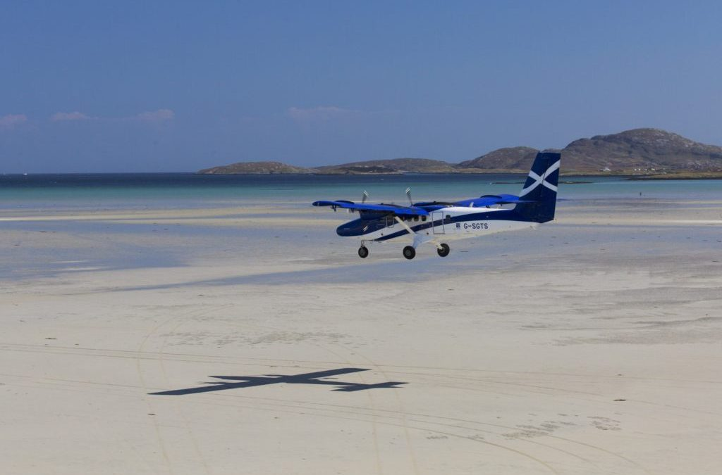 Landing on the beach at Barra