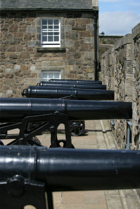 Canons at Stirling Castle
