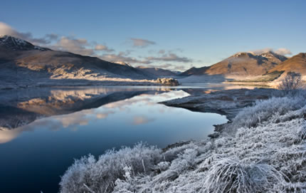 Loch Cluanie Scottish Highland trails